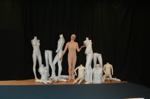 Stella the mannequin with her friends