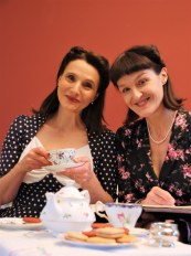 "Phyllis and Daphne invite you to ""EVERYTHING STOPS FOR TEA"""