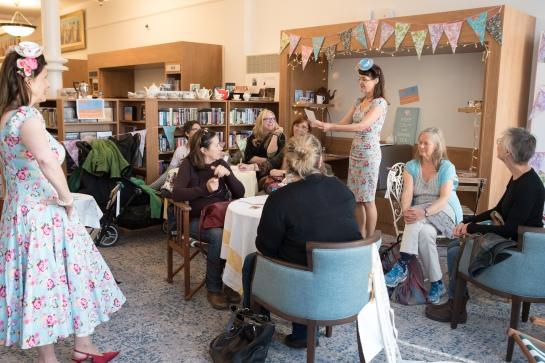 Secret Platform Theatre's EVERYTHING STOPS FOR TEA. Photo:Kim Hall