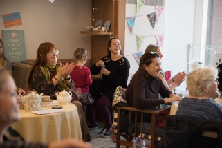 Secret Platform Theatre's EVERYTHING STOPS FOR TEA. Photo:Kim Hall